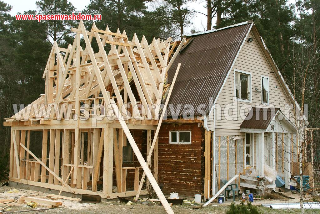 Достройка дачных домов фото